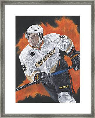 Bobby Ryan Framed Print by David Courson