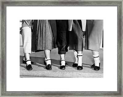 Bobby Socks, Ankle High, Often Thick Or Framed Print by Everett