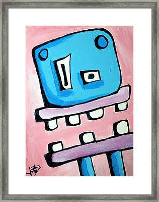 Bobmo The Robot Framed Print