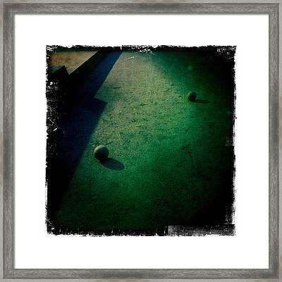 Bocce Ball Court Framed Print