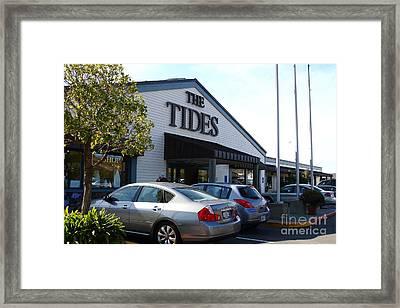 Bodega Bay . Town Of Bodega . The Tides Wharf Restaurant . 7d12412 Framed Print by Wingsdomain Art and Photography