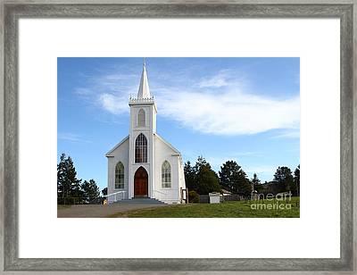 Bodega Catholic Church . Bodega Bay . Town Of Bodega . 7d12437 Framed Print by Wingsdomain Art and Photography