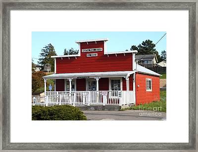 Bodega Post Office . Bodega Bay . Town Of Bodega . California . 7d12455 Framed Print by Wingsdomain Art and Photography