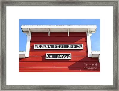 Bodega Post Office . Bodega Bay . Town Of Bodega . California . 7d12465 Framed Print by Wingsdomain Art and Photography