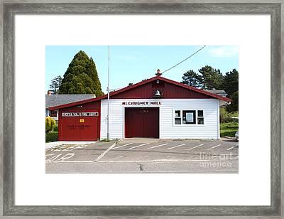 Bodega Volunteer Fire Department . Bodega Bay . Town Of Bodega . California . 7d12450 Framed Print by Wingsdomain Art and Photography