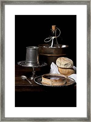 Bodegon With Cooler - Bread And Jalea Framed Print by Levin Rodriguez