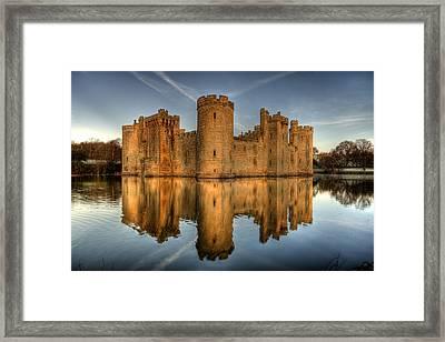 Bodiam Castle Framed Print by Mark Leader