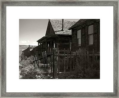 Bodie Cabins 3 Framed Print by Philip Tolok