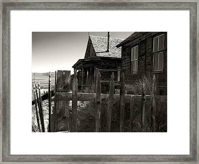 Bodie Cabins 4 Framed Print by Philip Tolok