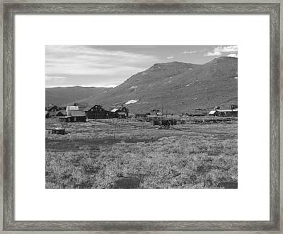 Bodie Cabins Framed Print by Philip Tolok