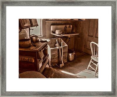 Bodie California Ghost Town Kitchen Framed Print