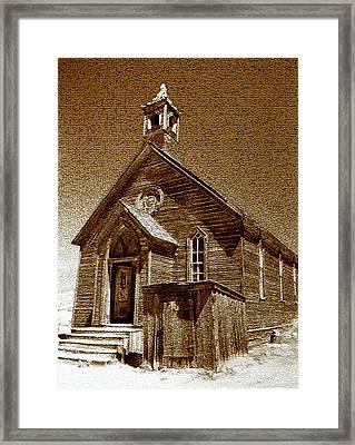 Bodie Church Framed Print by David Lee Thompson