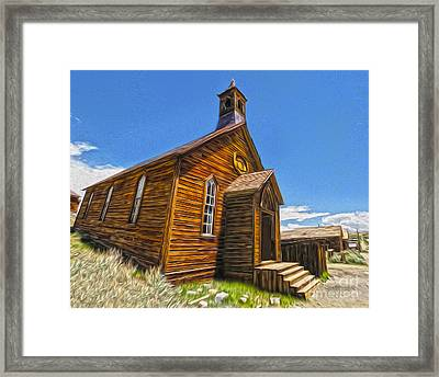 Bodie Ghost Town - Church 04 Framed Print by Gregory Dyer