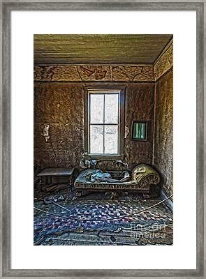 Bodie Ghost Town - Old House 04 Framed Print by Gregory Dyer