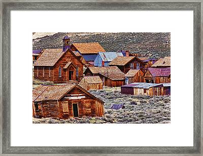 Bodie Ghost Town California Framed Print