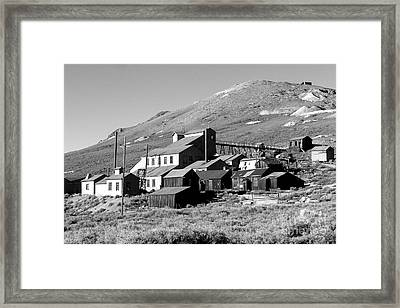 Framed Print featuring the photograph Bodie Ghost Town by Jim McCain