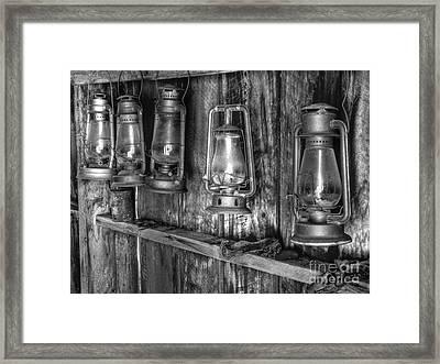 Bodie Lanterns Framed Print