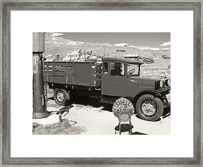 Bodie Shell Gasoline 2 Framed Print by Philip Tolok