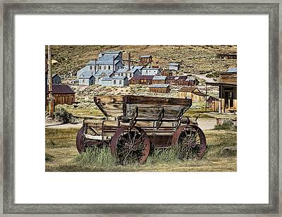 Bodie Wagon Framed Print by Kelley King