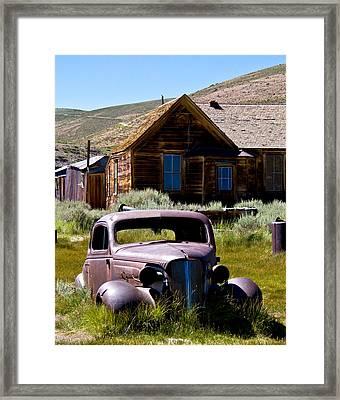 Bodies Old Car Framed Print by Chris Brannen