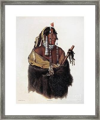 Bodmer: Young Mandan Framed Print by Granger