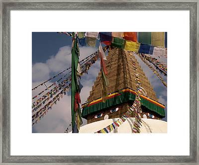 Bodnath Stupa Framed Print by Nina Papiorek
