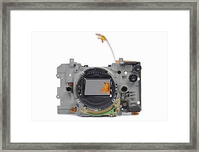 Body Of Broken 35mm Film Camera Framed Print