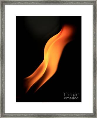 Body Of Fire Framed Print by Arie Arik Chen