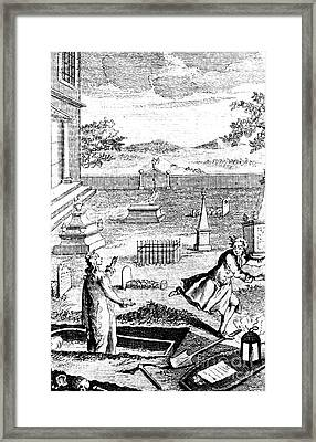 Body Snatching, 1746 Framed Print by Science Source