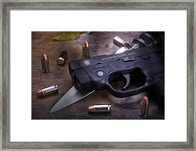 Bodyguard Concealed Carry Framed Print by Tom Mc Nemar