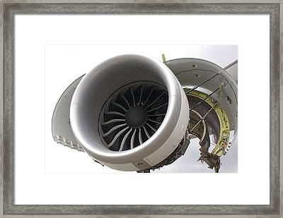 Boeing 747-8 Engine Cowling Framed Print by Mark Williamson