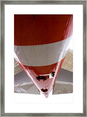 Boeing 747-8 Rear Fuselage And Tail Fins Framed Print by Mark Williamson