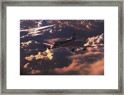 Boeing 747 Framed Print by Mike Miller