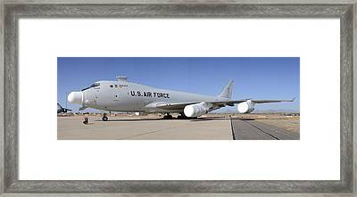 Boeing Yal-1a Airborne Laser Testbed Davis-monthan Afb April 15 2012 Framed Print by Brian Lockett