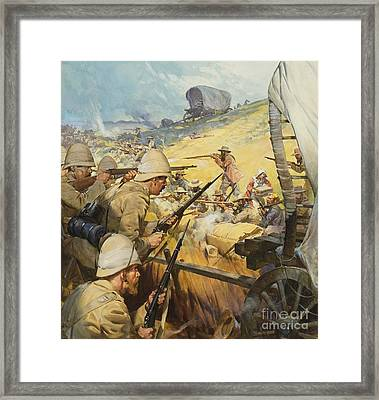 Boer War Skirmish Framed Print by James Edwin McConnell
