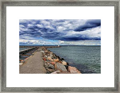 Bogense Harbor Framed Print