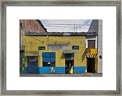 Framed Print featuring the photograph Bogota Shop by Steven Richman