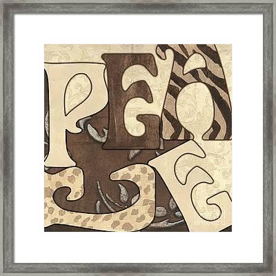 Bohemian Peace Framed Print