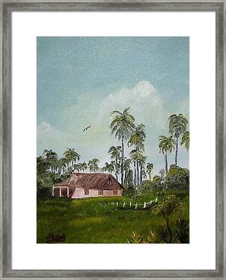 Bohio Y Palmeras Framed Print by Maria Soto Robbins