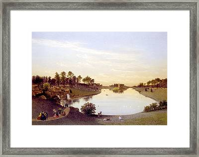 Bois De Boulogne, Paris, C. 1860 Framed Print by Everett