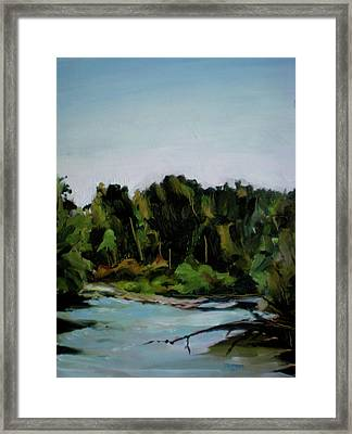 Boise River From Greenbelt Framed Print