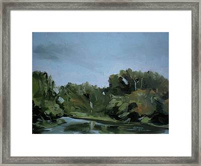Boise River In Eagle Framed Print