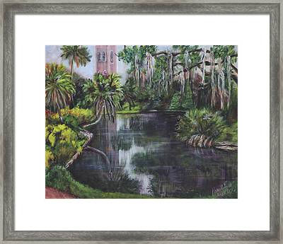 Framed Print featuring the painting Bok Tower by Pauline  Kretler