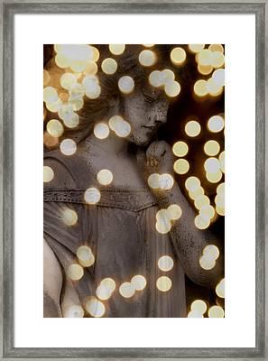 Bokeh Angel Framed Print