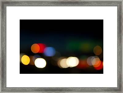 Bokeh Light Framed Print