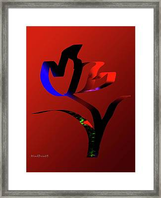 Framed Print featuring the digital art Bold And Beautiful by Asok Mukhopadhyay