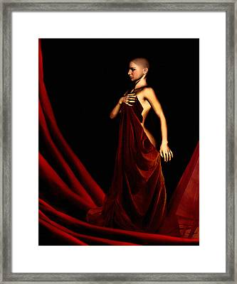 Bold And Red Framed Print by Lourry Legarde