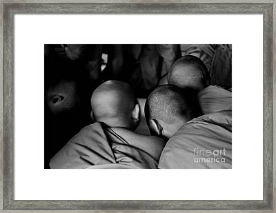 Bold Karma Framed Print by Dean Harte