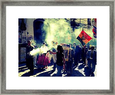 Bolivia Celebrations   Framed Print by Jade Sayers