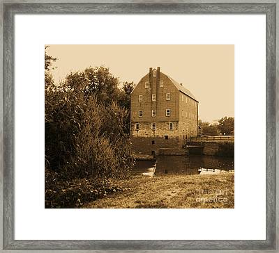 Bollinger Mill Framed Print by Julie Clements
